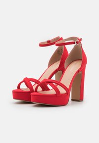 Even&Odd - Sandales à plateforme - red - 2