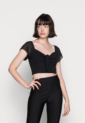 FRONT TIE  - T-shirt con stampa - black