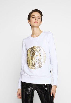 LADY LIGHT SWEATER - Sweatshirt - white/gold