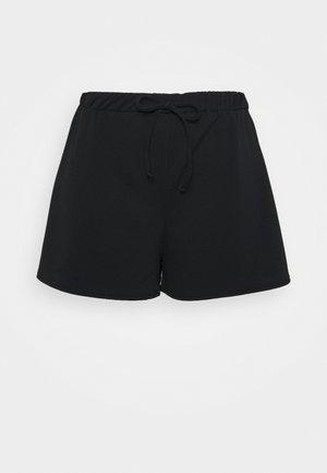 PLUS SIZE TIE FRONT JOGGER  - Shorts - black