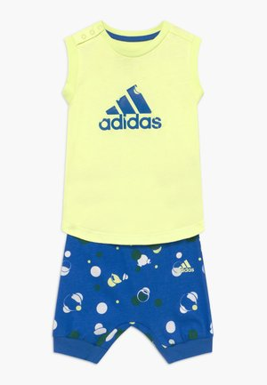 SET  - Sports shorts - yellow/blue