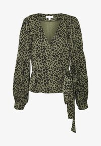WRAP - Blůza - sage leopard