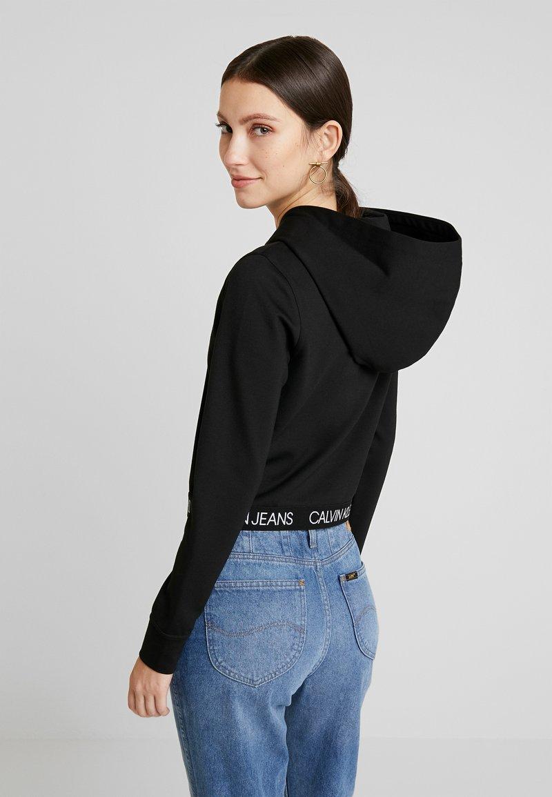 Calvin Klein Jeans - LOGO MILANO HOODIE - Hoodie - black