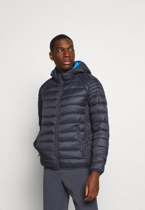 MAN JACKET ZIP HOOD - Zimní bunda - antracite
