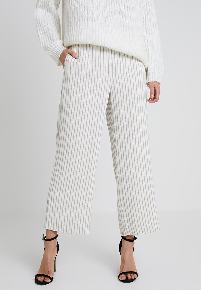 CULOTTE PINSTRIPES - Tygbyxor - light sand