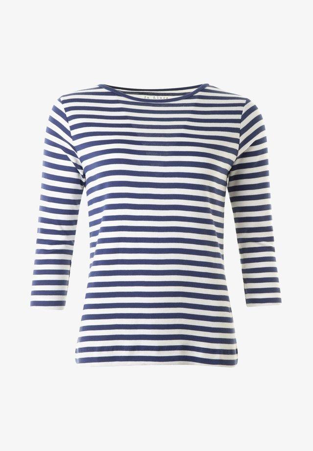 DILLAN - Långärmad tröja - denim/offwhite