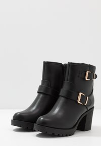 Anna Field Wide Fit - Platform ankle boots - black - 4