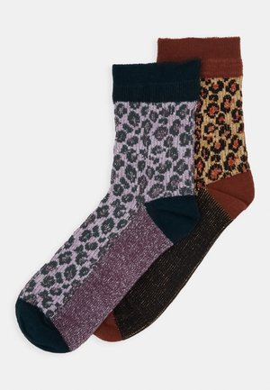 LEO GLAMMY SOCK 2 PACK - Strømper - brownish