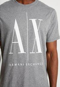 Armani Exchange - Print T-shirt - grey - 5