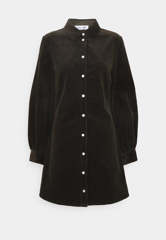 MOONSTONE DRESS - Shirt dress - black olive