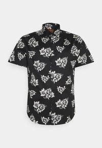 JAX FLORAL STRETCH SHIRT - Shirt - black