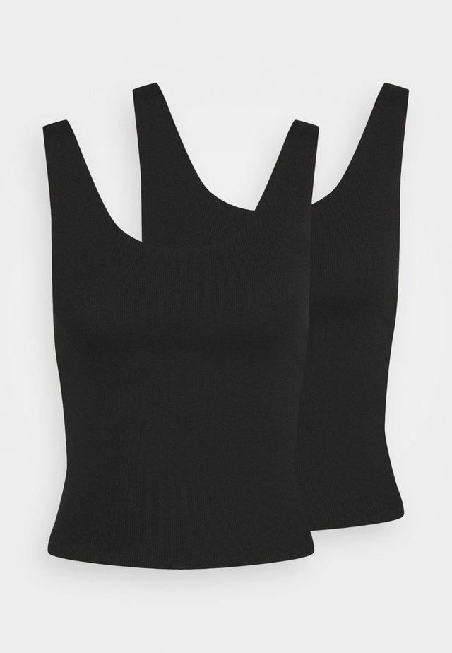 KERR TANK 2 PACK - Top - black