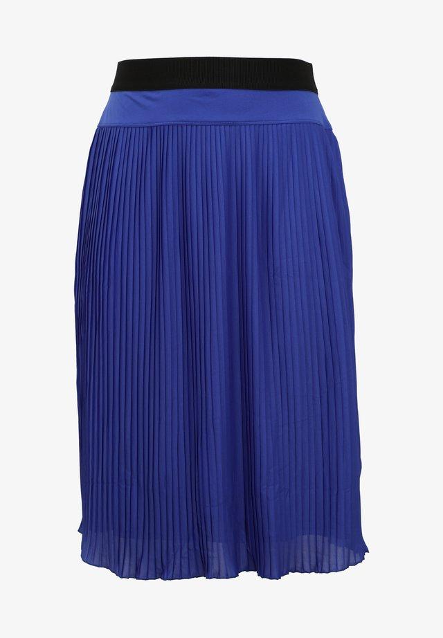 PLISSEE - A-line skirt - royal