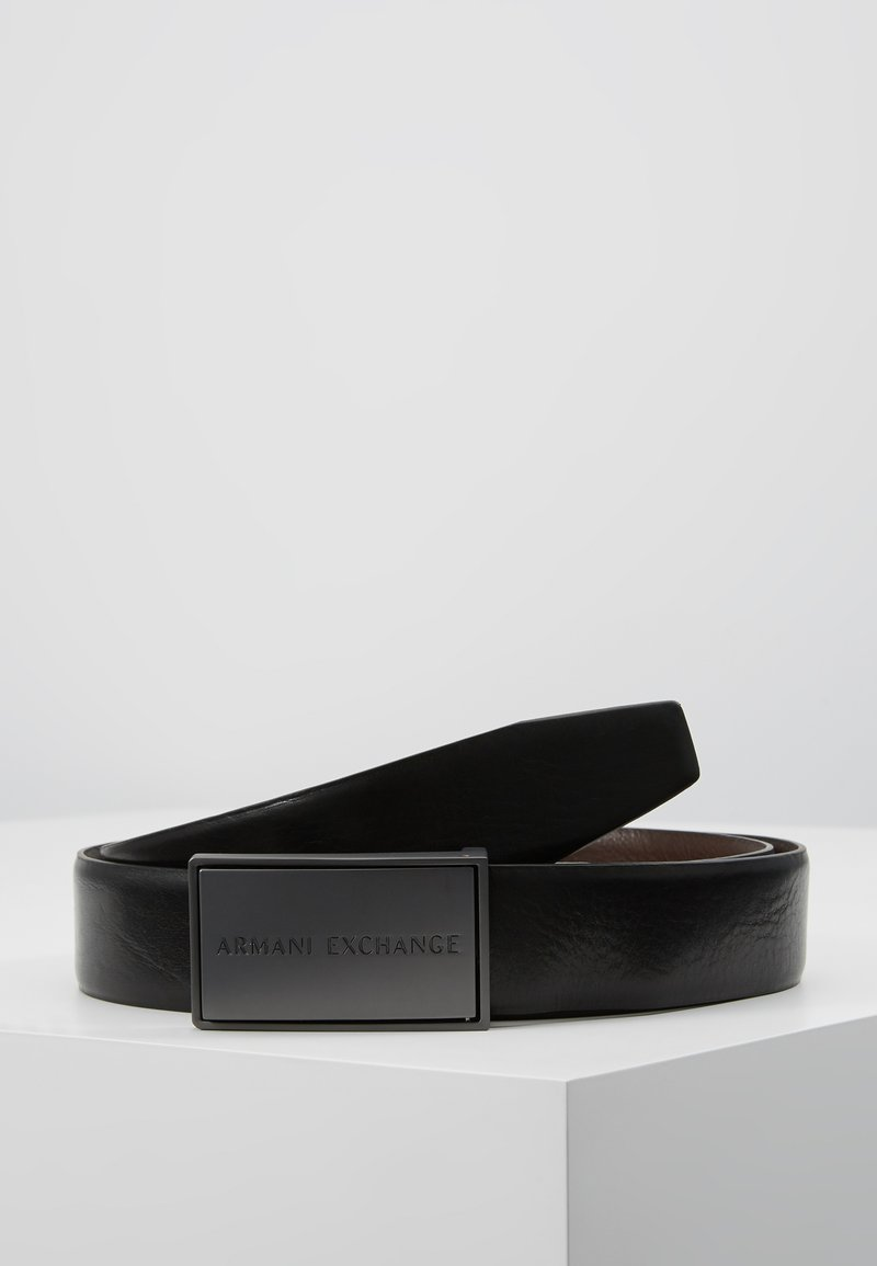 Armani Exchange - Pasek - black/dark brown