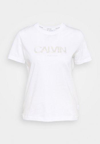LOGO TEE - Camiseta estampada - bright white