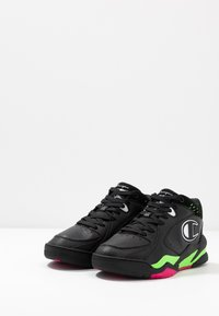 Champion - MID CUT SHOE ZONE MID 90'S - Basketsko - black/fluo lime/fluo fuxia - 2