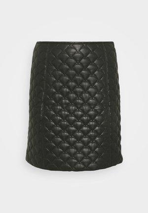 YASLANA - Áčková sukně - black