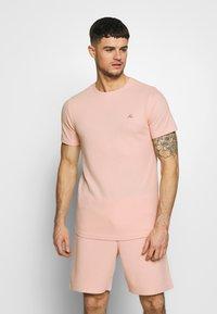 Jack & Jones PREMIUM - JPRBLAFRANCO TEE - T-shirt print - evening sand - 0