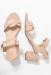 Anna Field - LEATHER HEELED SANDALS - Sandals - nude - 3