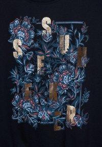Cecil - MIT SCHLEIFEN DETAIL - Print T-shirt - blau - 4