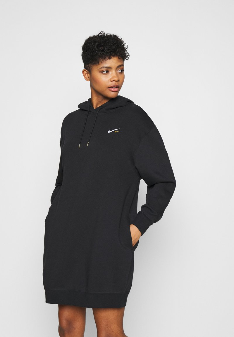Nike Sportswear - HOODIE DRESS - Day dress - black
