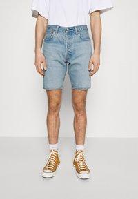 Levi's® - 501® HEMMED - Denim shorts - light-blue denim - 0