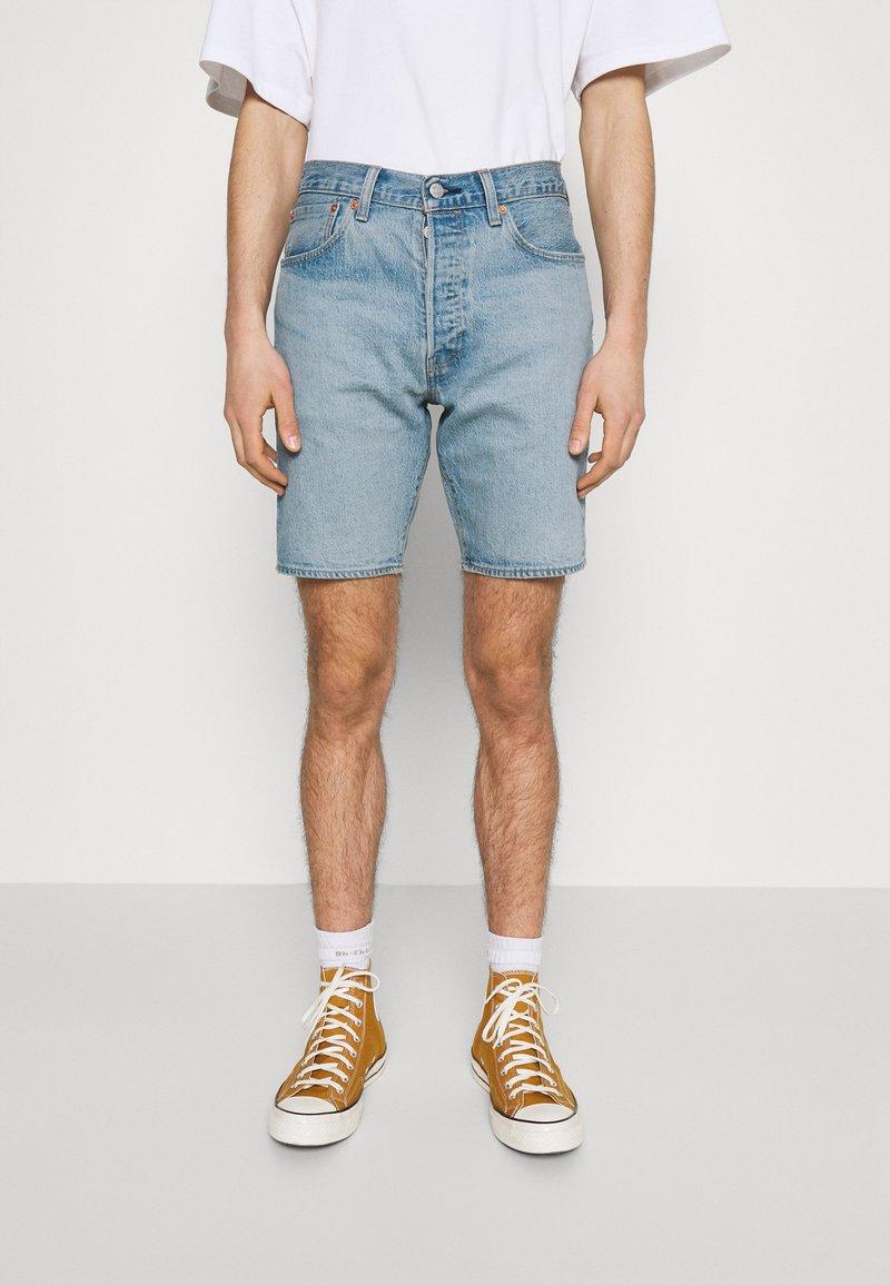 Levi's® - 501® HEMMED - Denim shorts - light-blue denim