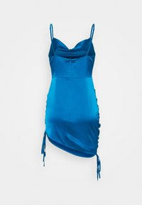 Missguided Petite - COWL MINI DRESS - Cocktail dress / Party dress - blue - 1
