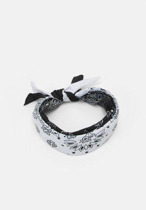 BANDANA UNISEX 2PACK - Foulard - black/white