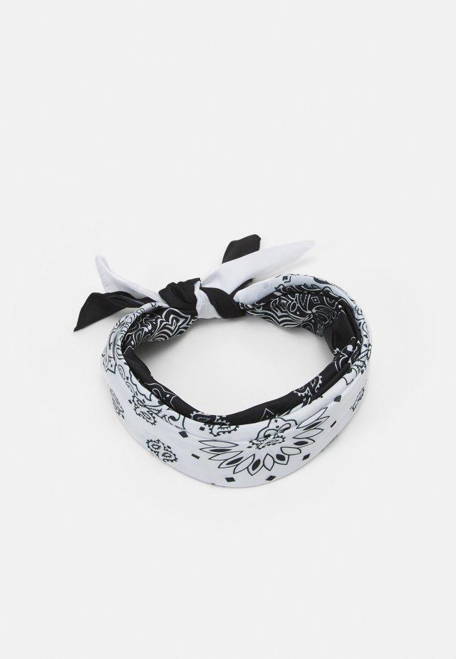 BANDANA UNISEX 2PACK - Šátek - black/white