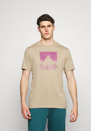 TEE YOGA - T-shirts med print - khaki
