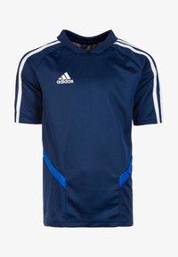 adidas Performance - TIRO 19 AEROREADY CLIMACOOL JERSEY - Print T-shirt - dark blue/white - 0