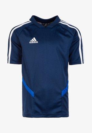TIRO 19 AEROREADY CLIMACOOL JERSEY - T-shirts med print - dark blue/white