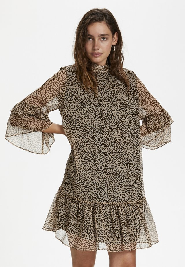 SLAMOS  - Sukienka letnia - mini leopard dot