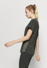 adidas Performance - 3 STRIPE TEE - Sports shirt - khaki - 3