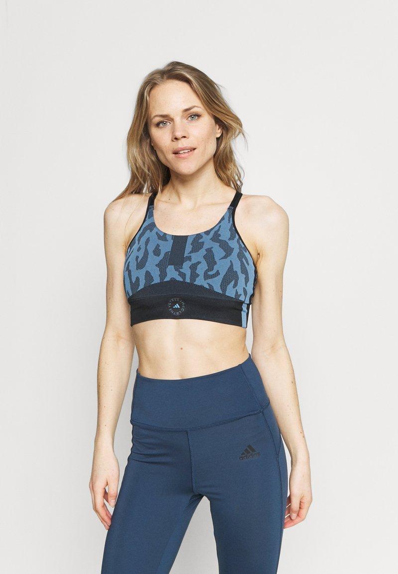 adidas by Stella McCartney - BRA - Light support sports bra - blue/black