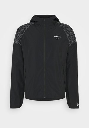 NIKE RUN DIVISION FLASH - Laufjacke - black/silver