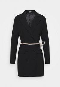 Missguided - BELT BLAZER DRESS - Koktejlové šaty/ šaty na párty - black - 0