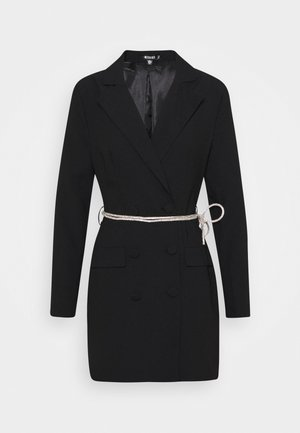 BELT BLAZER DRESS - Vestido de cóctel - black