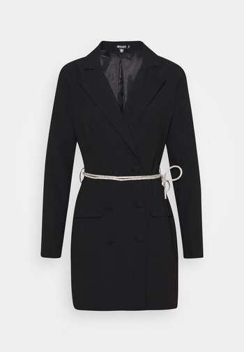 BELT BLAZER DRESS - Cocktail dress / Party dress - black