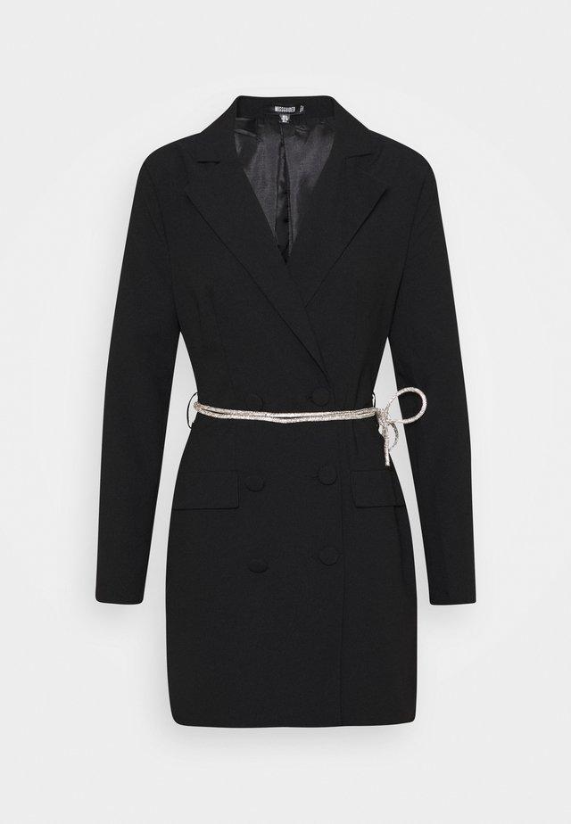 BELT BLAZER DRESS - Vestito elegante - black
