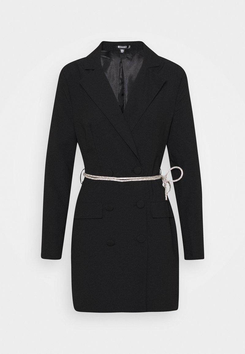 Missguided - BELT BLAZER DRESS - Koktejlové šaty/ šaty na párty - black