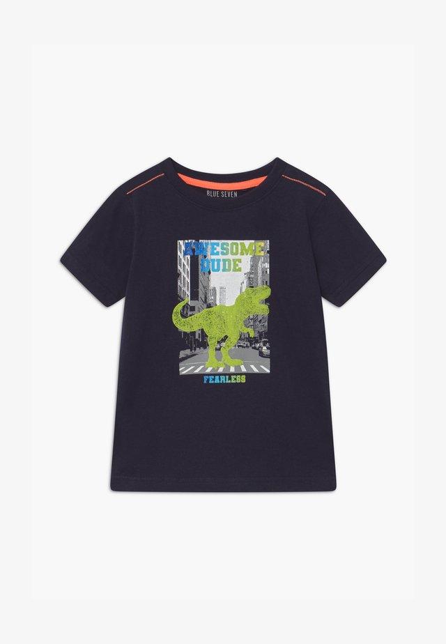 SMALL BOYS T-REX DINOSAUR - T-Shirt print - nachtblau