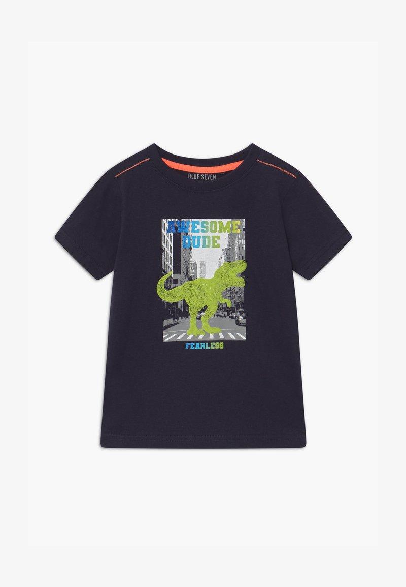 Blue Seven - SMALL BOYS T-REX DINOSAUR - Print T-shirt - nachtblau