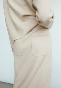 Massimo Dutti - Pencil skirt - beige - 1