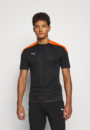 Sports shirt - black/shocking orange
