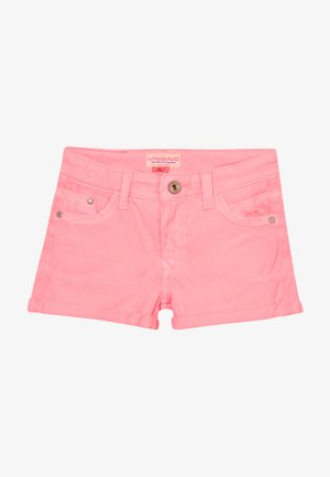 DELIA - Denim shorts - neon pink