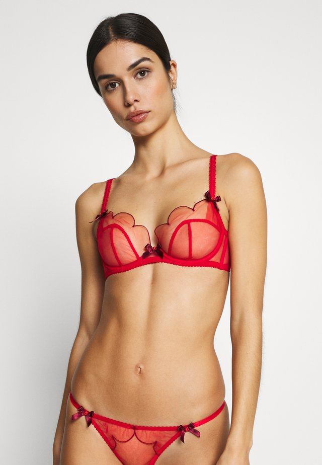 LORNA BRA - Underwired bra - red/red