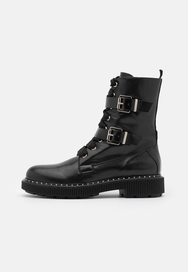 MARINAIO - Kotníkové boty na platformě - black