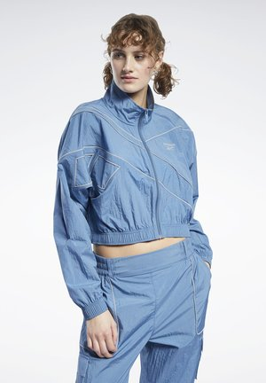 CLASSICS CROPPED TRACK TOP - Training jacket - blue